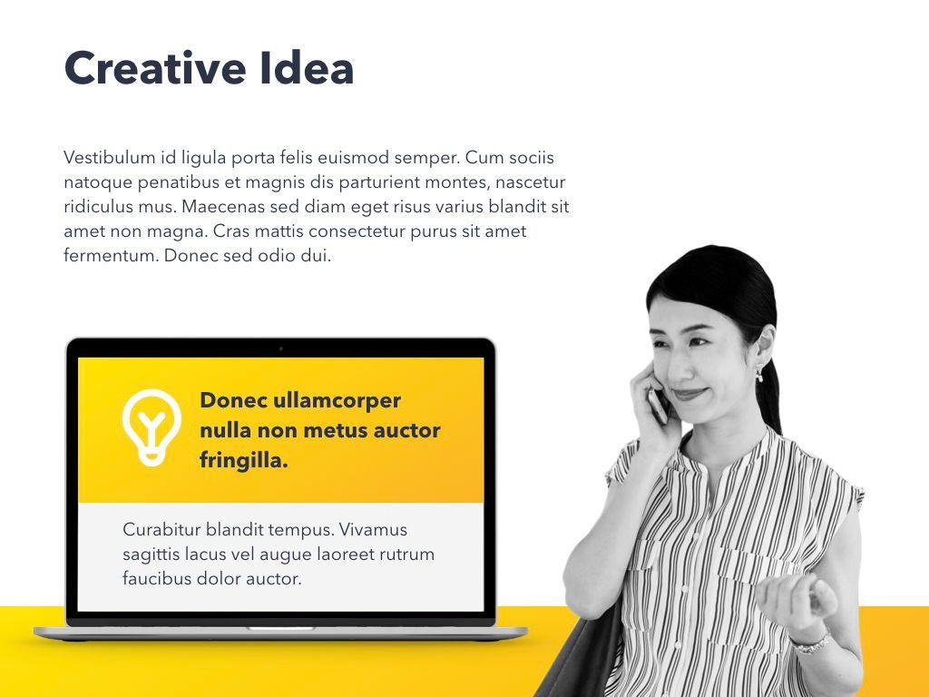 Yellow Concept PowerPoint Template, Slide 20, 06169, Presentation Templates — PoweredTemplate.com