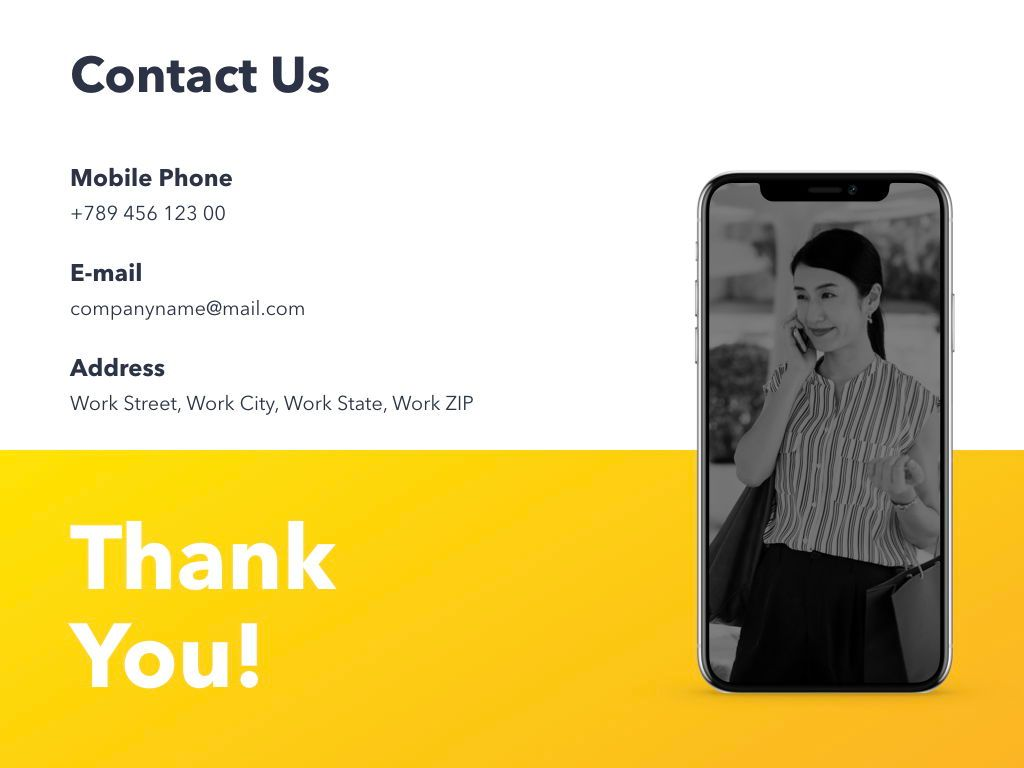 Yellow Concept PowerPoint Template, Slide 21, 06169, Presentation Templates — PoweredTemplate.com