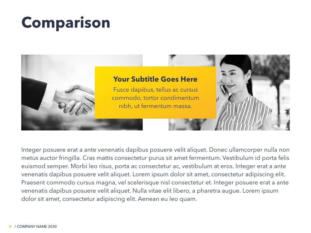 Yellow Concept PowerPoint Template, Slide 9, 06169, Presentation Templates — PoweredTemplate.com