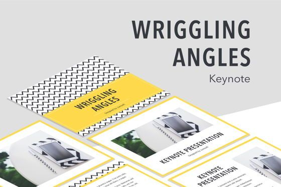Presentation Templates: Wriggling Angles Keynote Template #06170