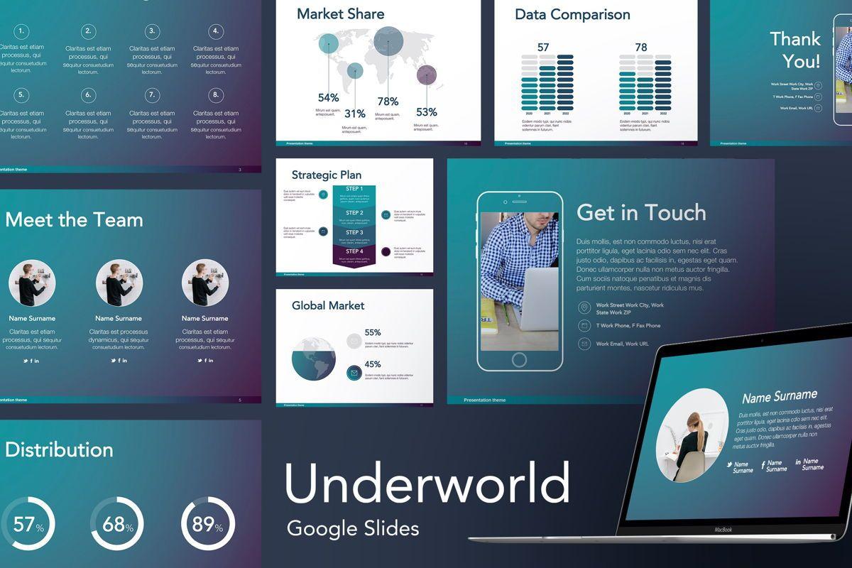 Underworld Google Slides Template, 06172, Presentation Templates — PoweredTemplate.com