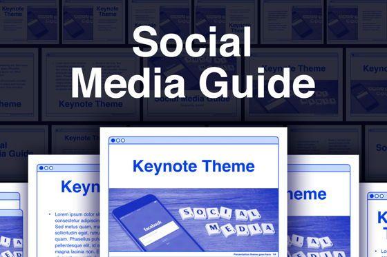 Presentation Templates: Social Media Guide Keynote Template #06174