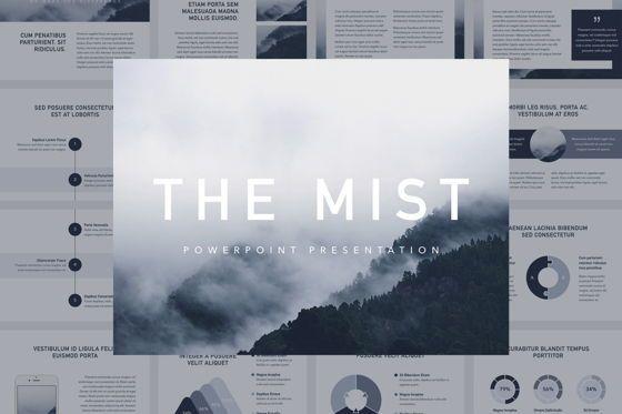 Presentation Templates: The Mist PowerPoint Template #06178