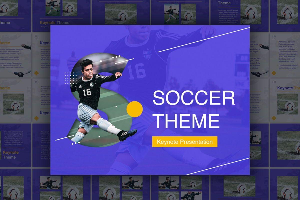 Soccer Keynote Template, 06181, Presentation Templates — PoweredTemplate.com