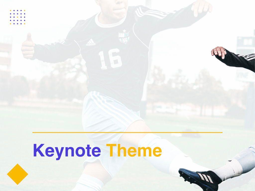 Soccer Keynote Template, Slide 10, 06181, Presentation Templates — PoweredTemplate.com