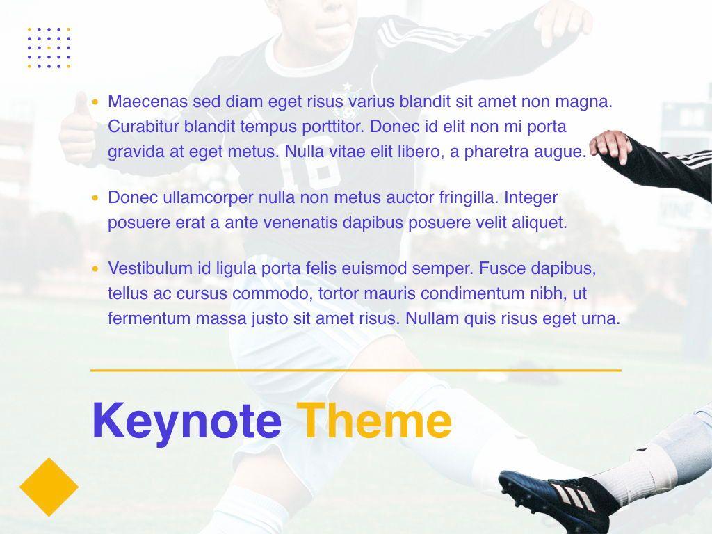 Soccer Keynote Template, Slide 11, 06181, Presentation Templates — PoweredTemplate.com