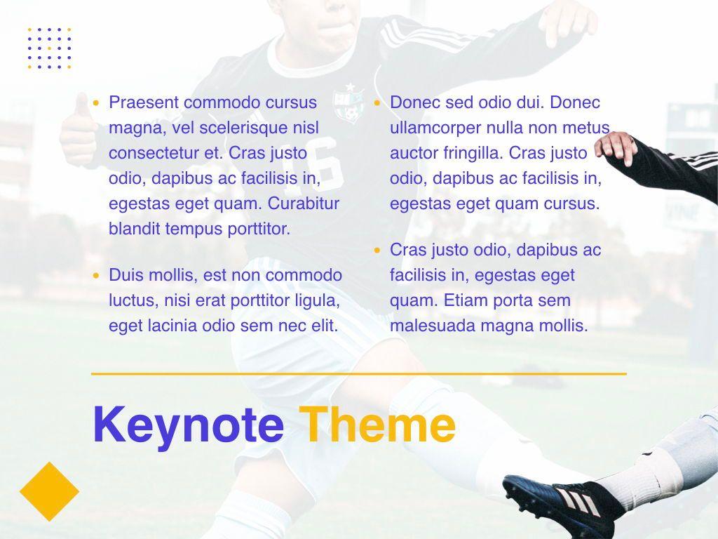 Soccer Keynote Template, Slide 12, 06181, Presentation Templates — PoweredTemplate.com