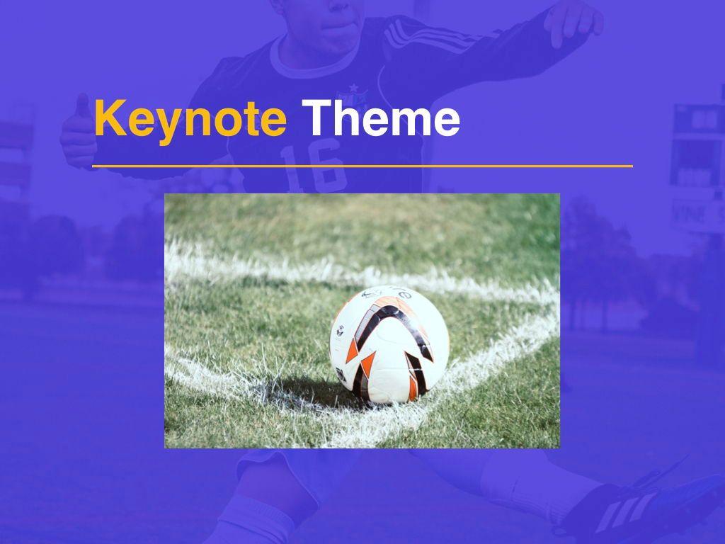Soccer Keynote Template, Slide 15, 06181, Presentation Templates — PoweredTemplate.com