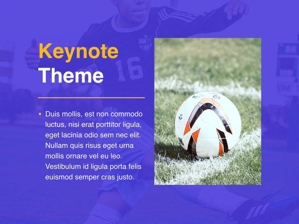 Soccer Keynote Template, Slide 17, 06181, Presentation Templates — PoweredTemplate.com