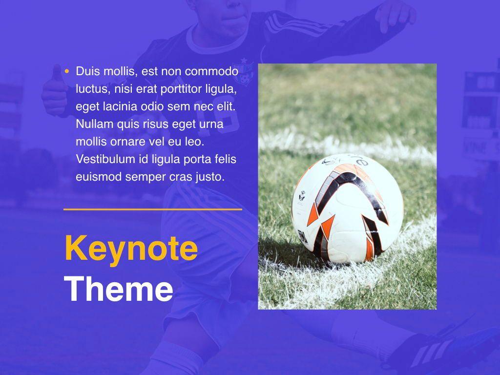 Soccer Keynote Template, Slide 19, 06181, Presentation Templates — PoweredTemplate.com