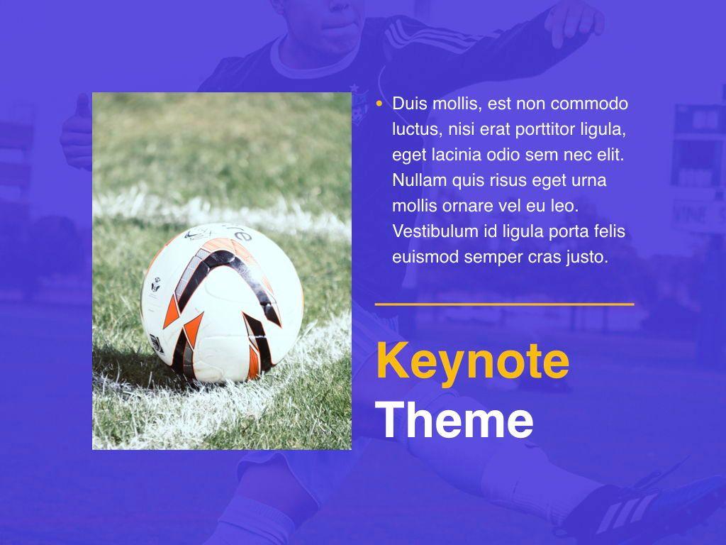 Soccer Keynote Template, Slide 20, 06181, Presentation Templates — PoweredTemplate.com