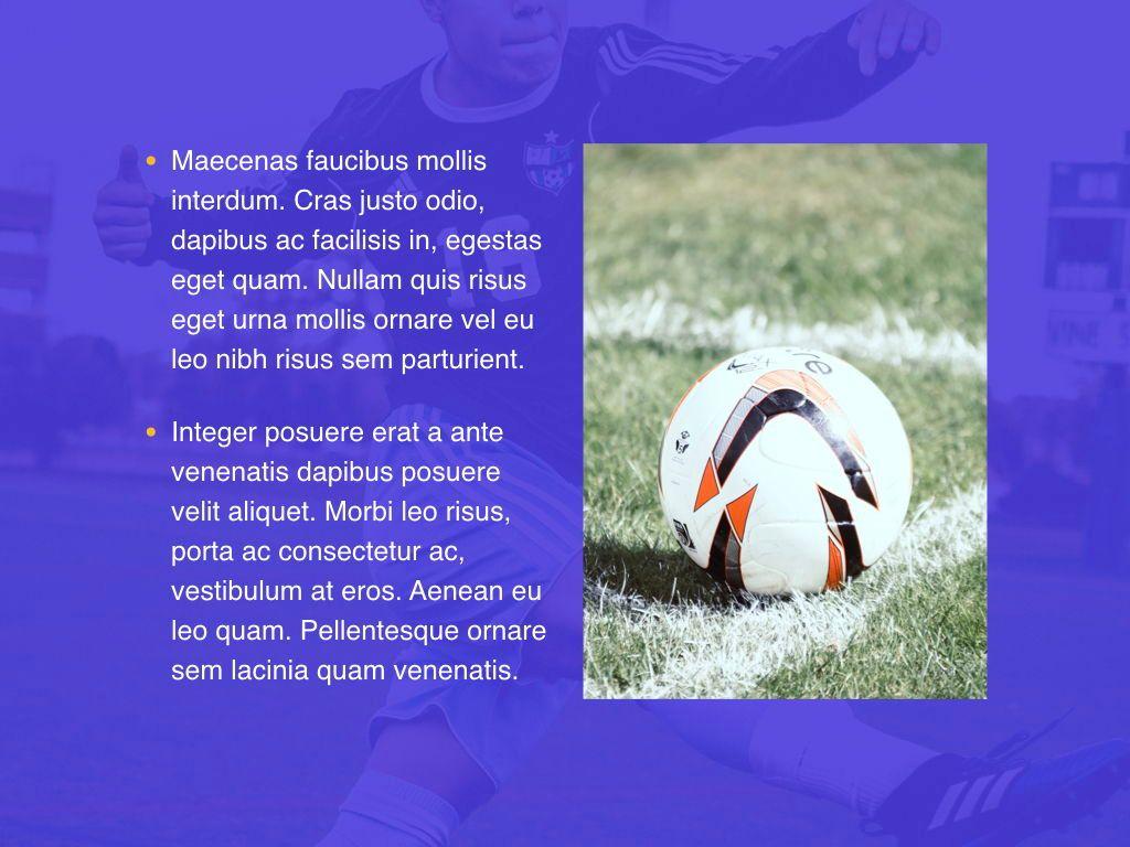 Soccer Keynote Template, Slide 21, 06181, Presentation Templates — PoweredTemplate.com