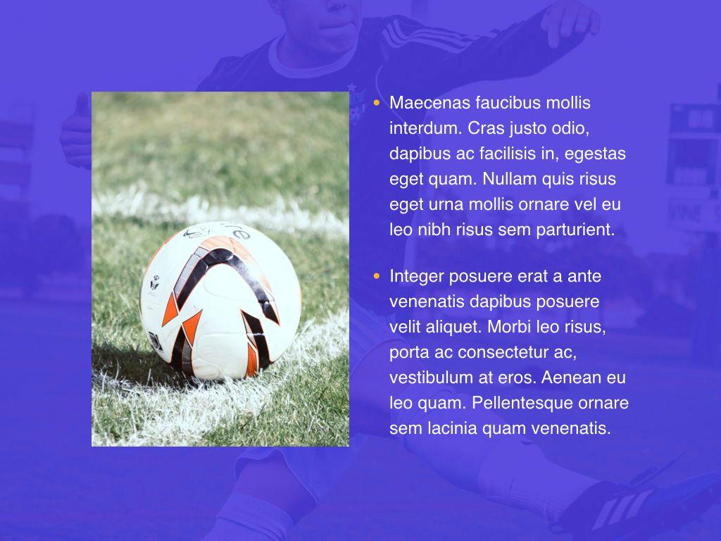 Soccer Keynote Template, Slide 22, 06181, Presentation Templates — PoweredTemplate.com