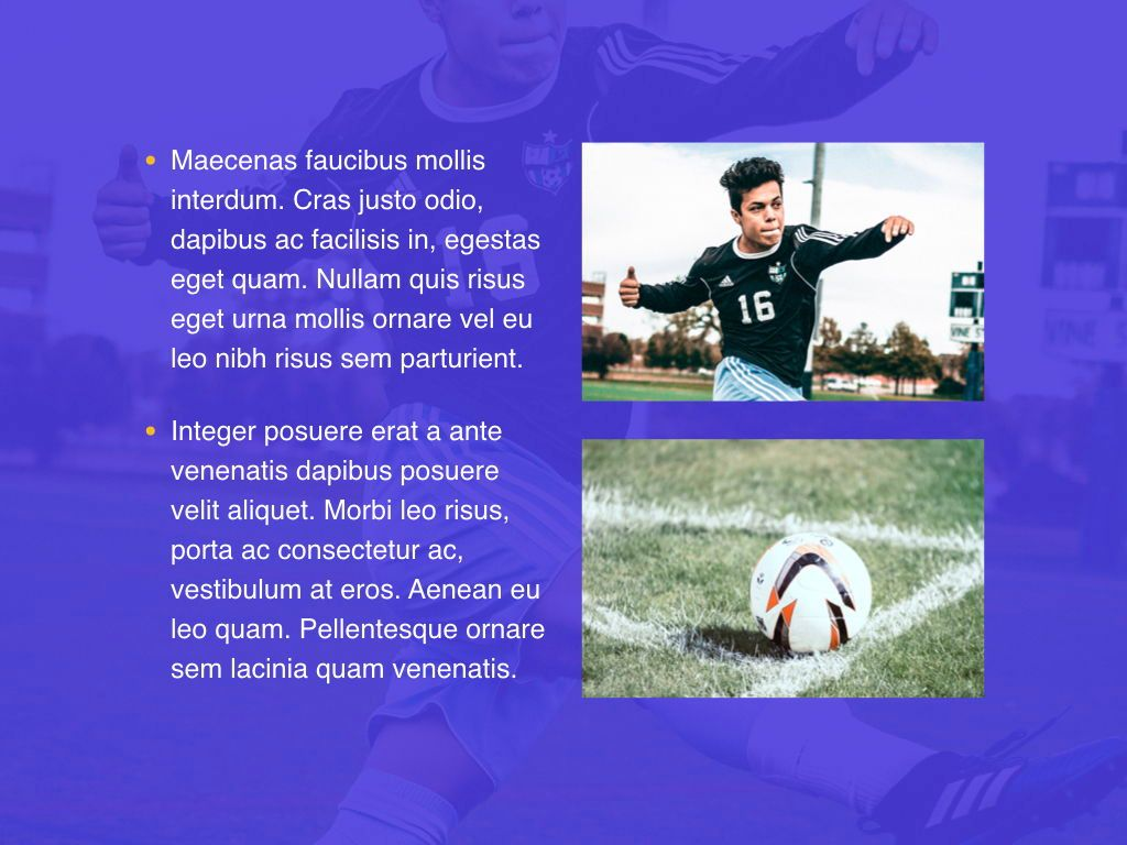 Soccer Keynote Template, Slide 23, 06181, Presentation Templates — PoweredTemplate.com
