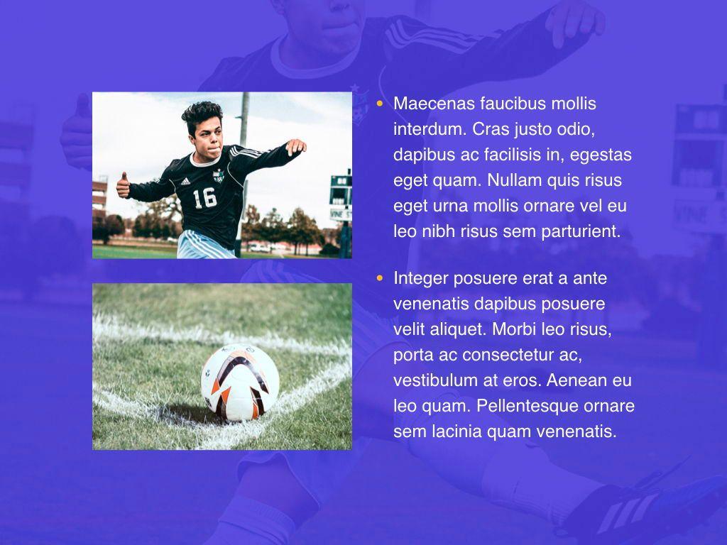 Soccer Keynote Template, Slide 24, 06181, Presentation Templates — PoweredTemplate.com