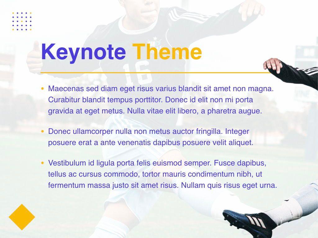 Soccer Keynote Template, Slide 3, 06181, Presentation Templates — PoweredTemplate.com