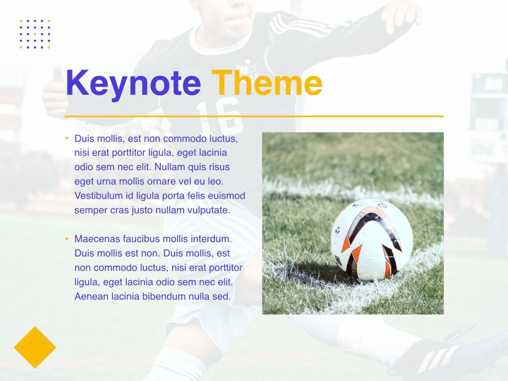 Soccer Keynote Template, Slide 30, 06181, Presentation Templates — PoweredTemplate.com