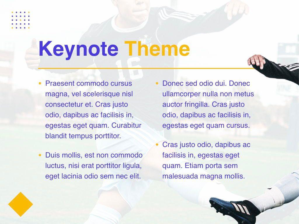 Soccer Keynote Template, Slide 4, 06181, Presentation Templates — PoweredTemplate.com