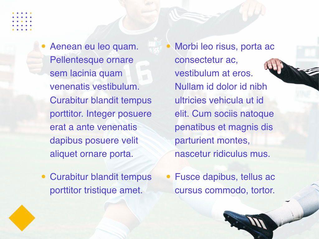 Soccer Keynote Template, Slide 6, 06181, Presentation Templates — PoweredTemplate.com