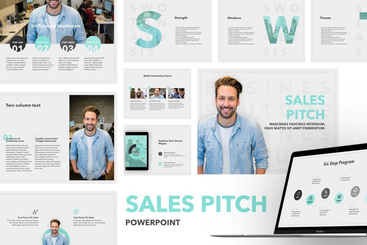 Sales Pitch PowerPoint Template, 06183, Presentation Templates — PoweredTemplate.com