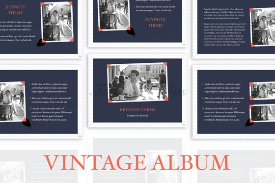 Presentation Templates: Vintage Album Keynote Template #06184