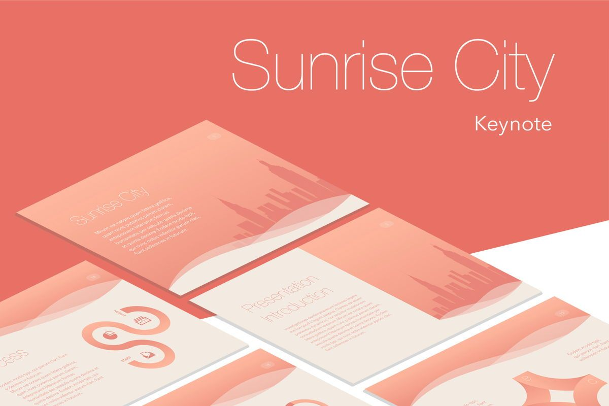Sunrise City Keynote Template, 06187, Presentation Templates — PoweredTemplate.com
