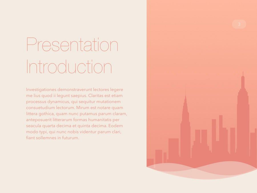 Sunrise City Keynote Template, Slide 4, 06187, Presentation Templates — PoweredTemplate.com
