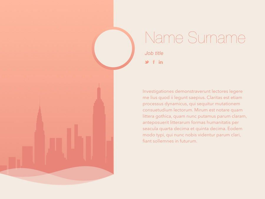 Sunrise City Keynote Template, Slide 6, 06187, Presentation Templates — PoweredTemplate.com