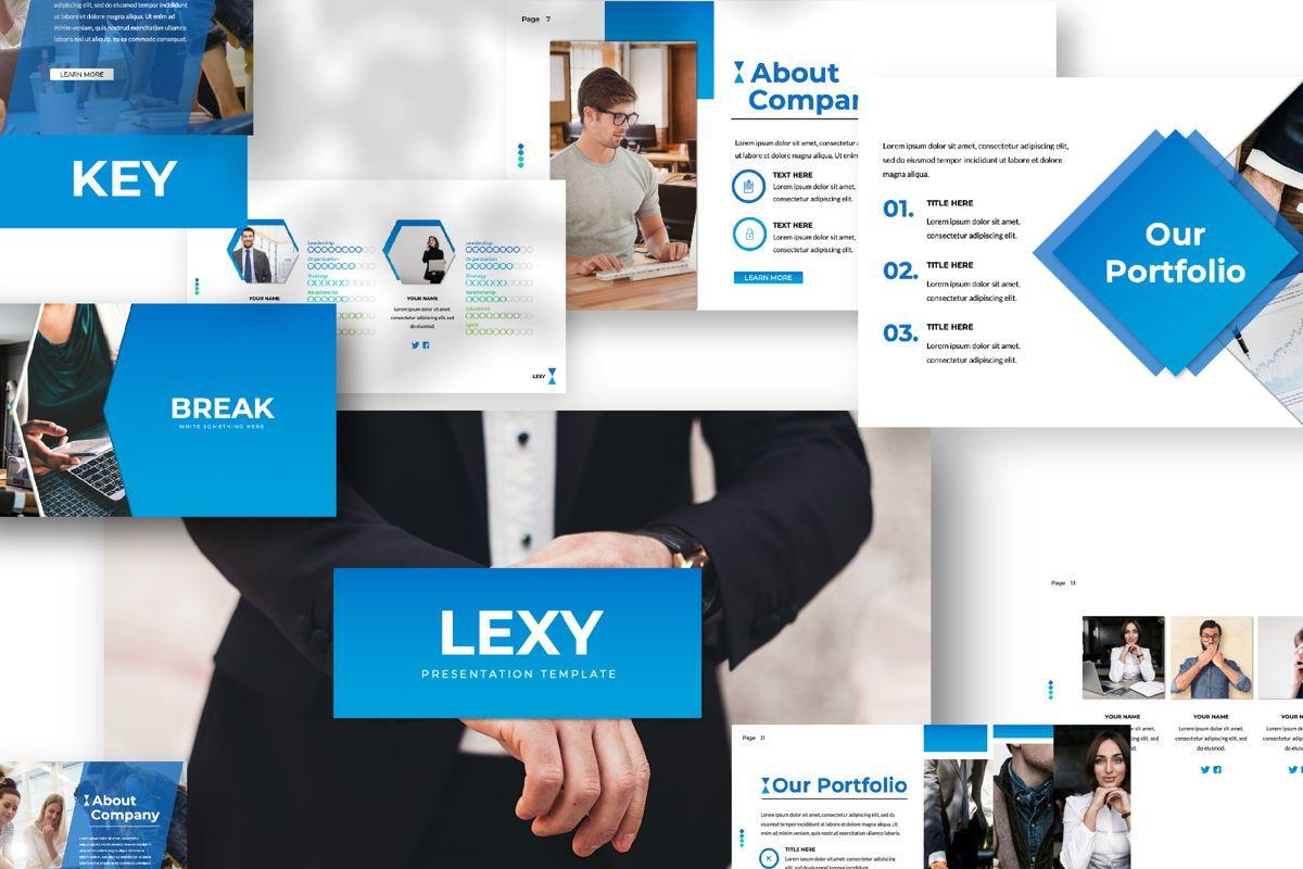 Lexy Business Keynote, 06189, Presentation Templates — PoweredTemplate.com