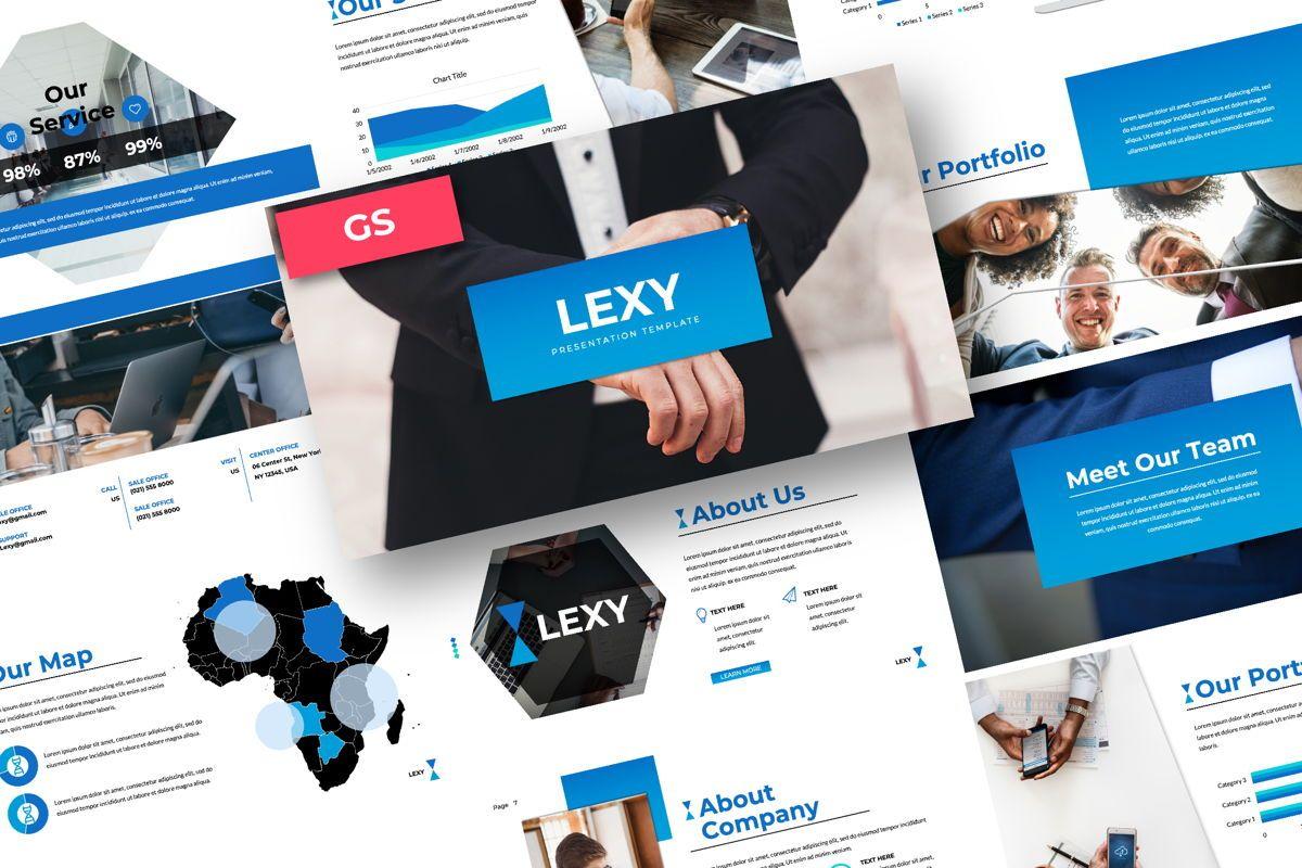 Lexy Business Google Slide, 06190, Presentation Templates — PoweredTemplate.com