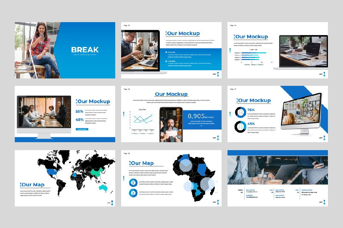 Lexy Business Google Slide, Slide 4, 06190, Presentation Templates — PoweredTemplate.com