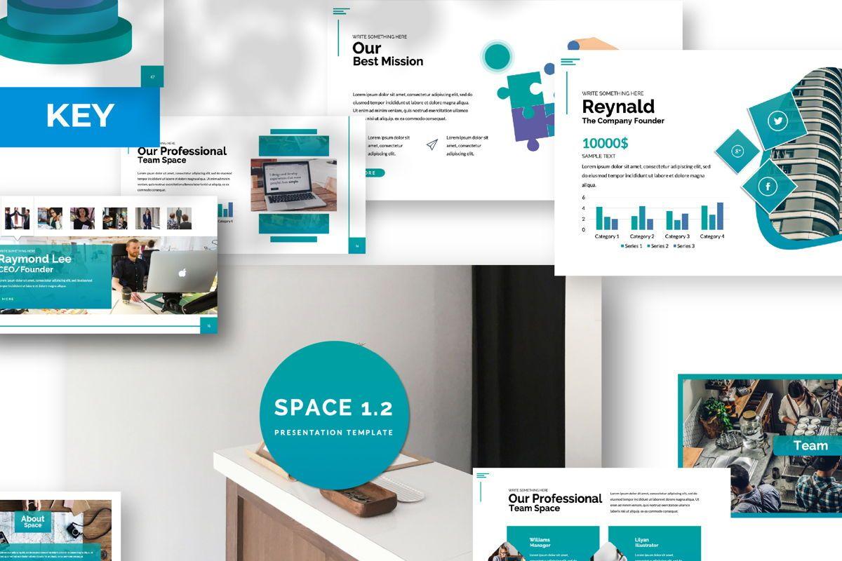 Space Business Keynote, 06198, Presentation Templates — PoweredTemplate.com