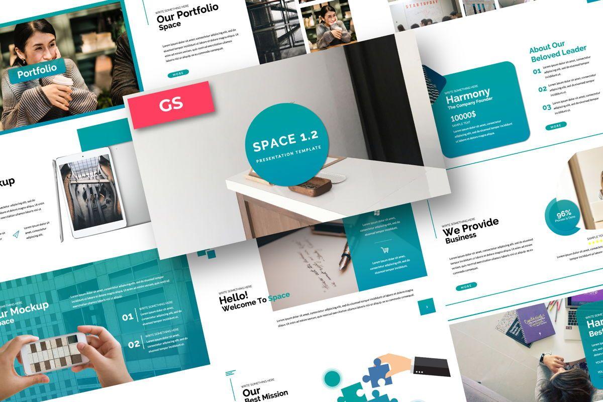 Space Business Google Slide, 06199, Presentation Templates — PoweredTemplate.com
