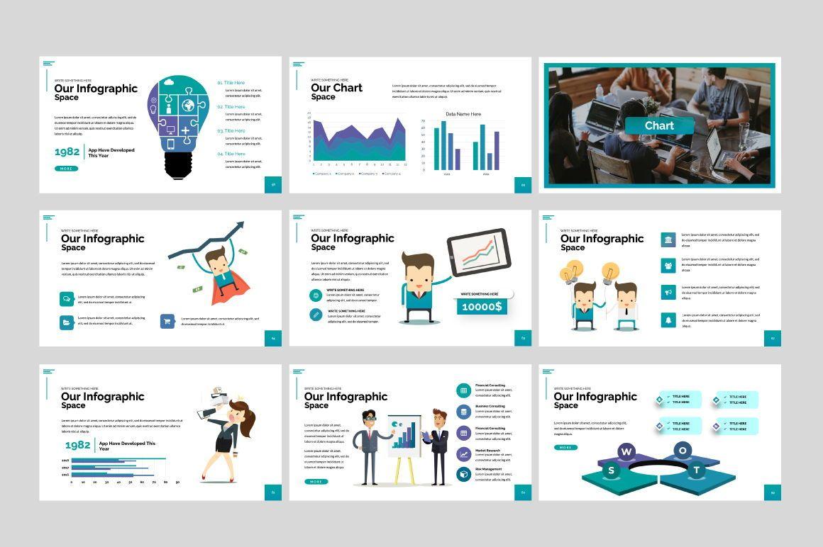 Space Business Google Slide, Slide 4, 06199, Presentation Templates — PoweredTemplate.com