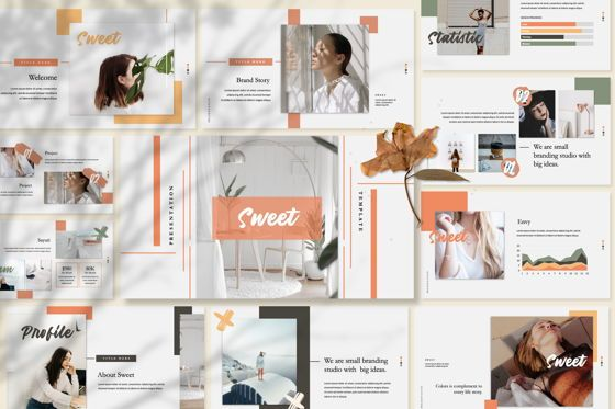 Presentation Templates: Sweet Business Powerpoint #06200