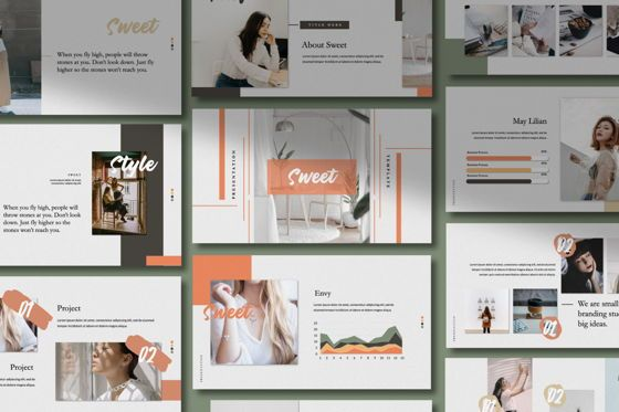 Presentation Templates: Sweet Business Google Slide #06202