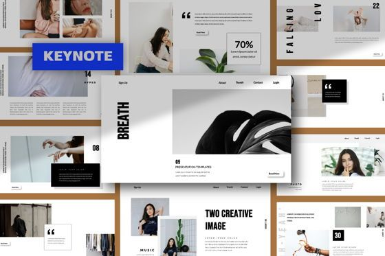 Presentation Templates: Breath Business Keynote #06204