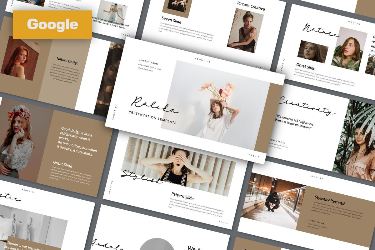 Ralika Creative Google Slide, 06206, Presentation Templates — PoweredTemplate.com
