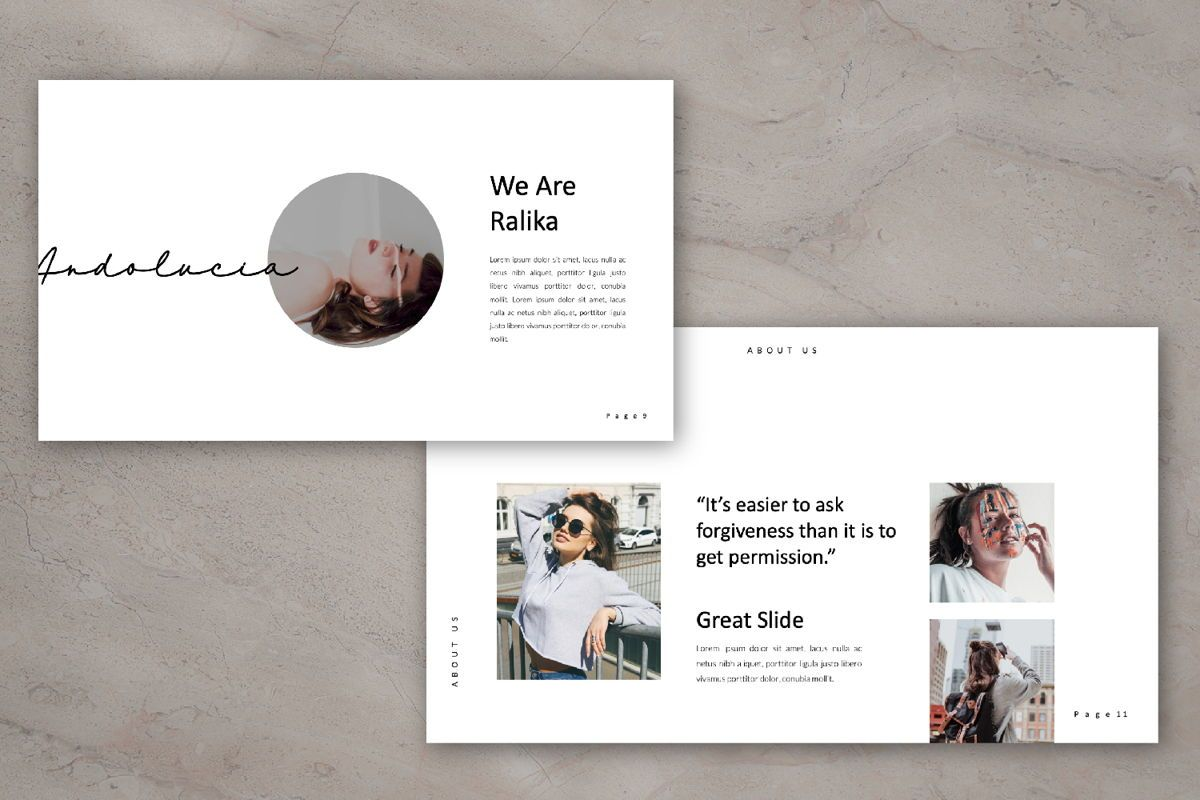 Ralika Creative Google Slide, Slide 5, 06206, Presentation Templates — PoweredTemplate.com