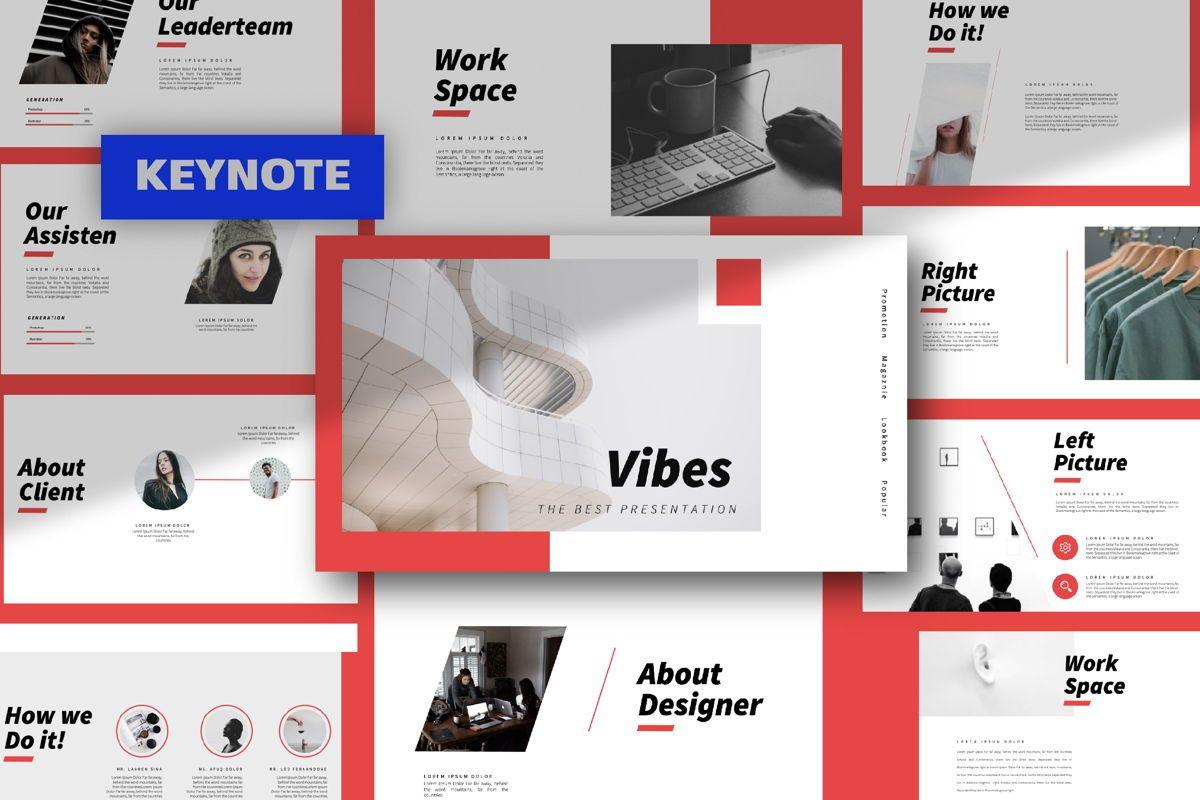 Vibes Creative Keynote, 06211, Presentation Templates — PoweredTemplate.com