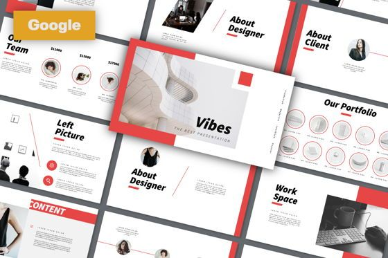 Presentation Templates: Vibes Creative Google Slide #06212