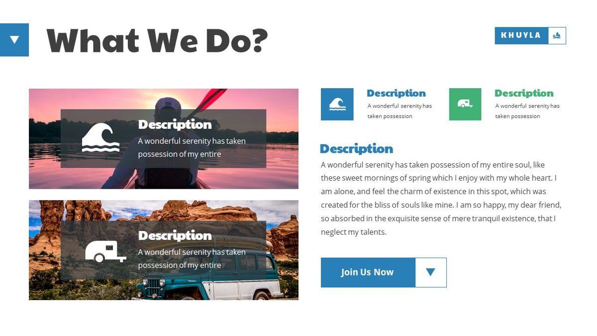 Khuyla - Adventure Powerpoint Template, Slide 7, 06213, Business Models — PoweredTemplate.com