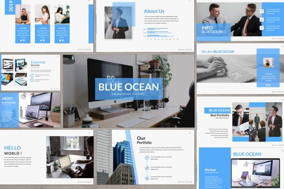 Presentation Templates: Blue Ocean Creative Powerpoint #06218