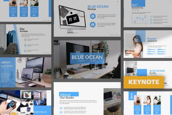 Presentation Templates: Blue Ocean Creative Keynote #06219