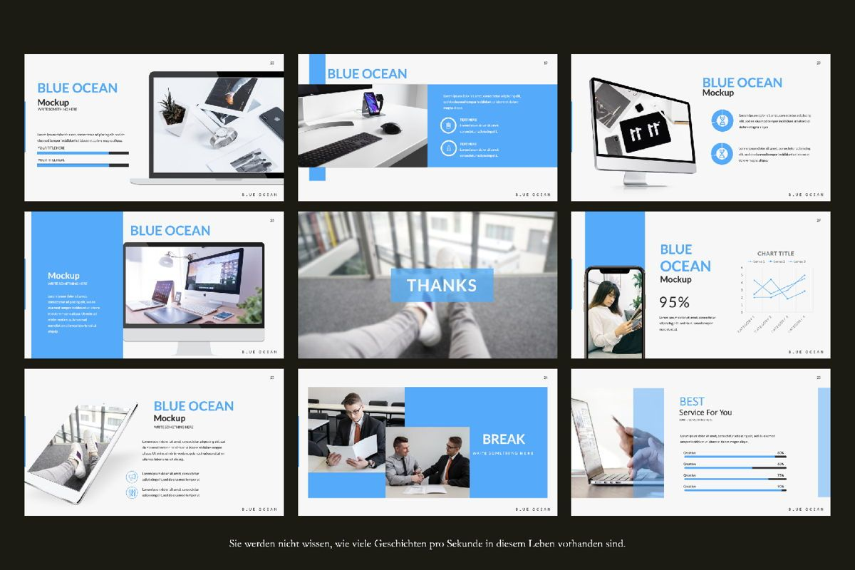 Blue Ocean Creative Google Slide, Slide 2, 06220, Presentation Templates — PoweredTemplate.com