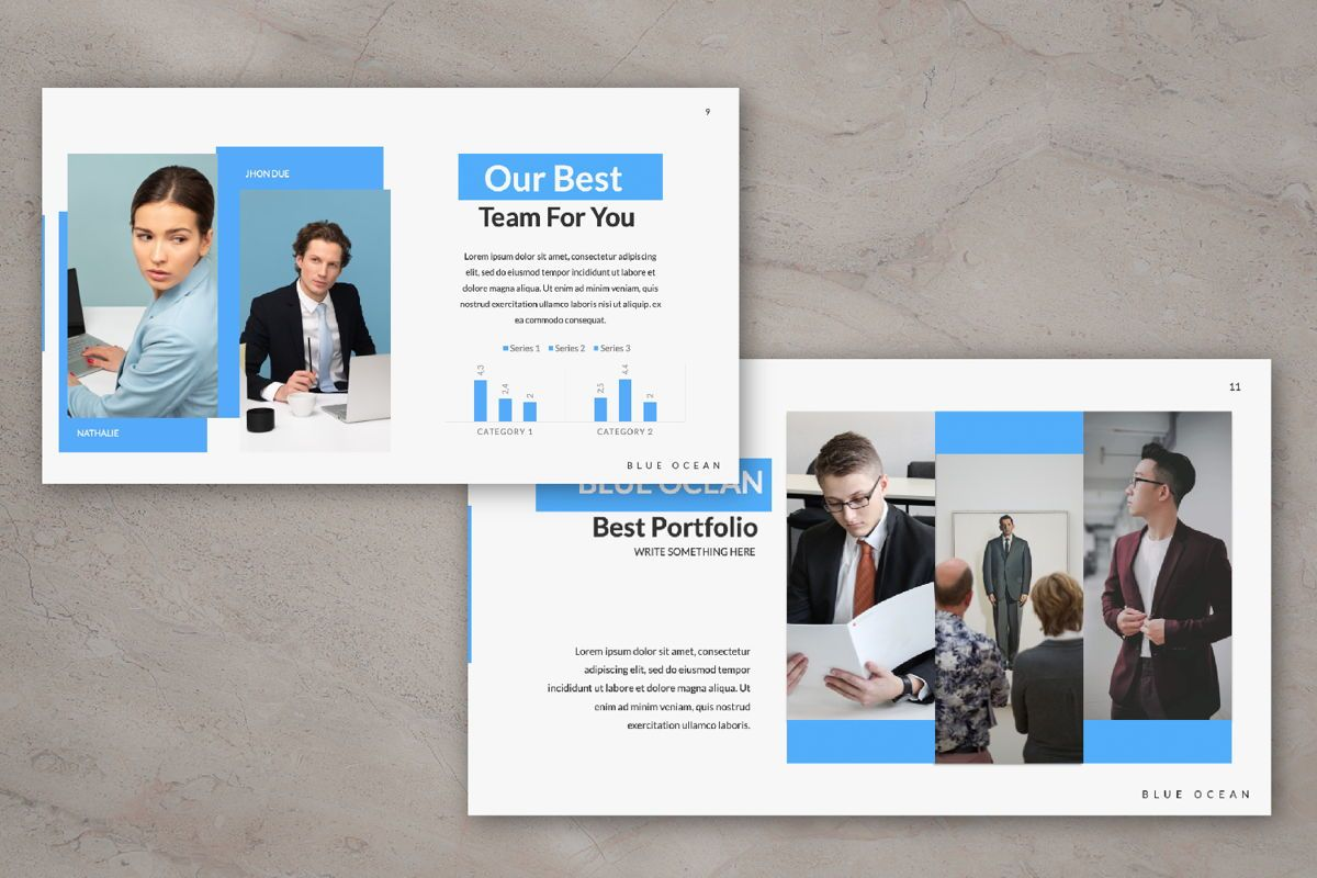 Blue Ocean Creative Google Slide, Slide 5, 06220, Presentation Templates — PoweredTemplate.com