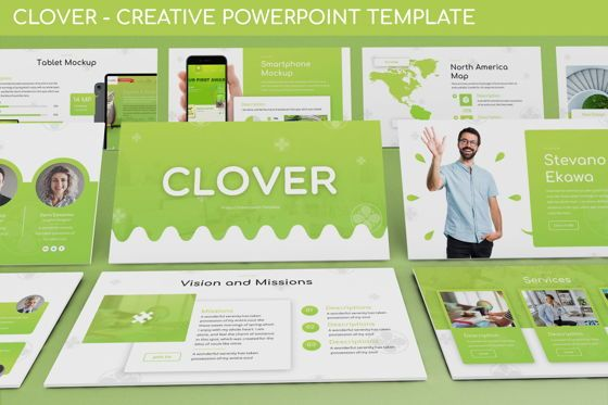 Business Models: Clover - Creative Powerpoint Template #06222