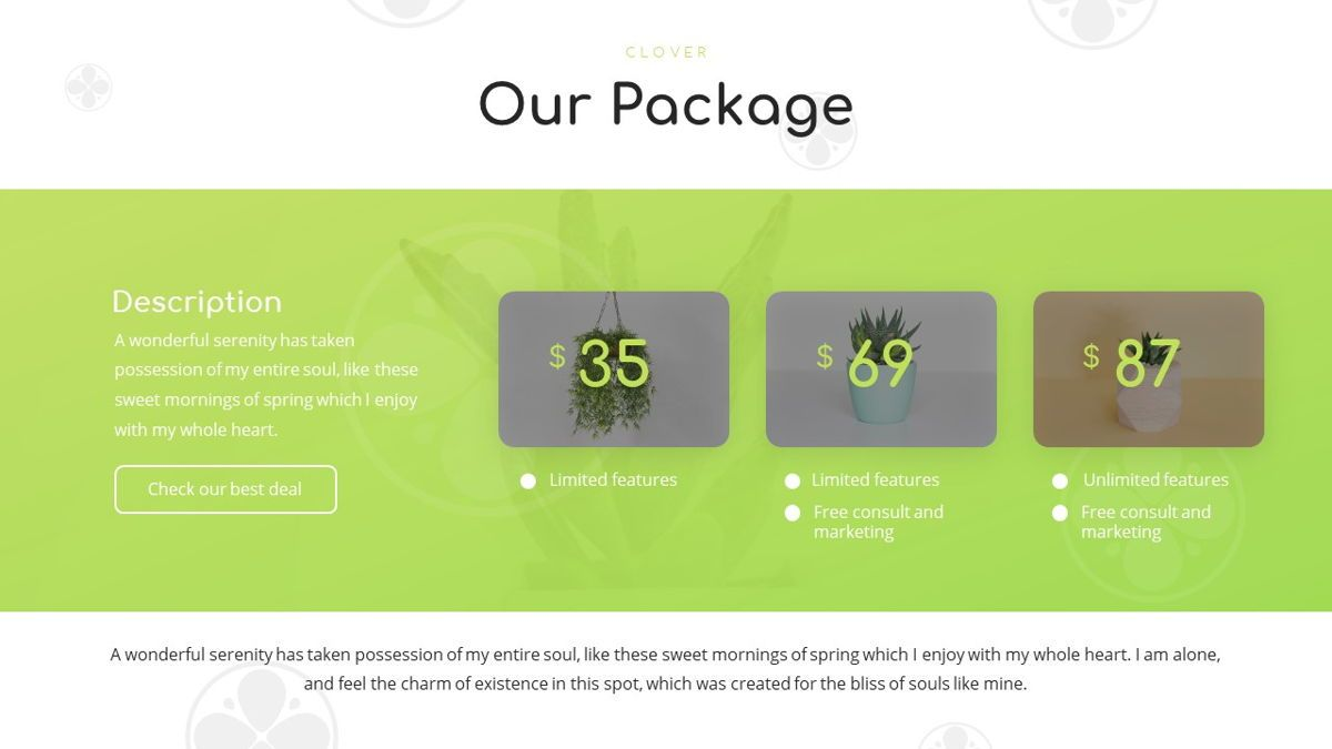 Clover - Creative Powerpoint Template, Slide 14, 06222, Business Models — PoweredTemplate.com