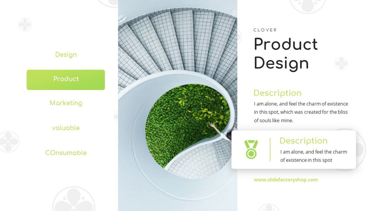 Clover - Creative Powerpoint Template, Slide 18, 06222, Business Models — PoweredTemplate.com