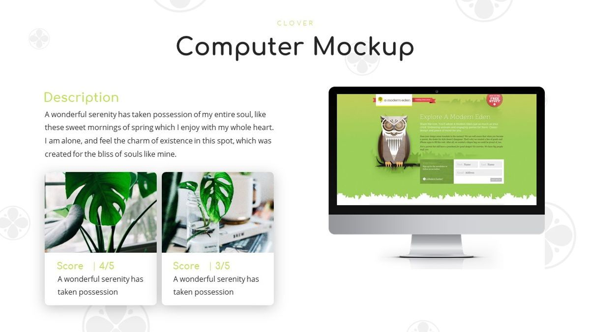 Clover - Creative Powerpoint Template, Slide 22, 06222, Business Models — PoweredTemplate.com
